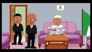 Nigerian Interior Minister turns SSS Official to shoe shiner, comedy cartoon