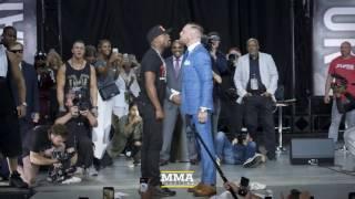 Floyd Mayweather vs. Conor McGregor (Toronto) Opening Staredown - MMA Fighting