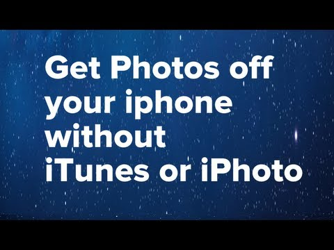 Photos off iPhone/iPod without iTunes or iPhoto