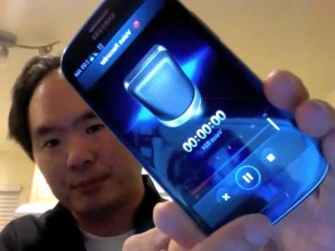 Using Samsung Galaxy S3 as a voice recorder