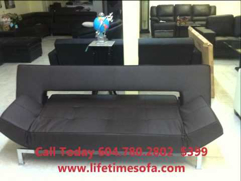 leather sofa bed futon vamcouver