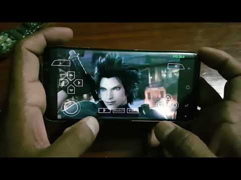 Final Fantasy 7 Game PSP in Samsung Galaxy S8 EMULATOR PERFORMANCE TEST and BEST SETTINGS