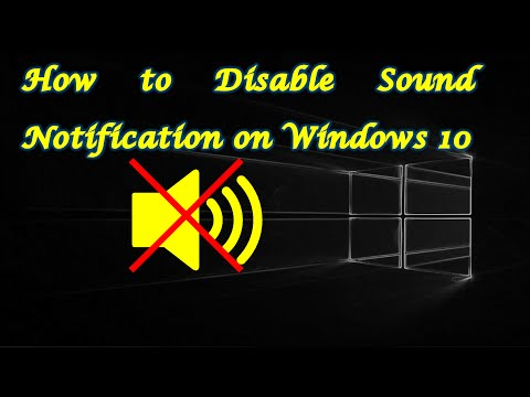 Turn Off Notification Sounds on Windows 10