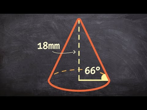 How to determine the volume of a cone by finding the height first