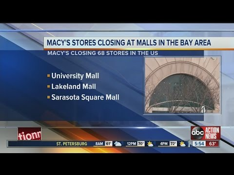 Macy's stores closing at malls in the Bay area