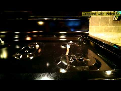 GE Gas Stove Top cleaning Dec 2013