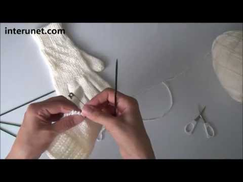 How to knit women's gloves - video tutorial