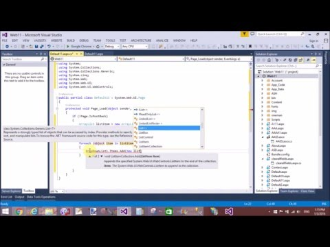 Bind or Insert Data into DropDownlist using List and ArrayList in ASP.NET C#