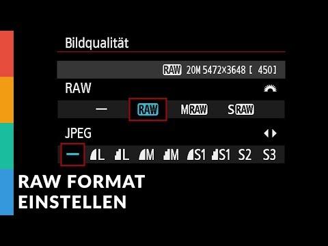 Bild-Format RAW/JPG in Canon Kamera einstellen + Qualitäts-Einstellungen