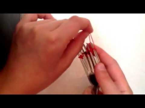 Ziggety Zag rainbow loom bracelet tutorial (on fork)