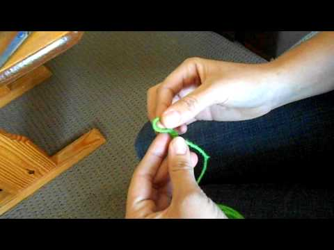 Finger Knit Flower Video #1