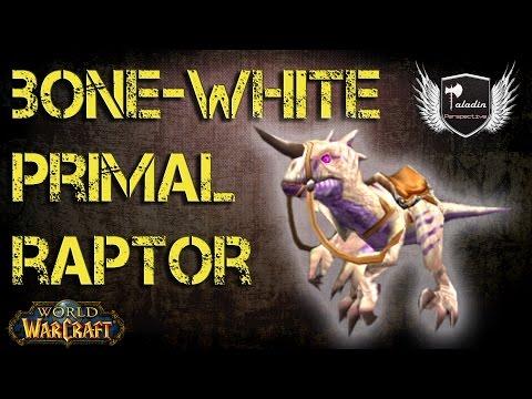 Bone White Primal Raptor - WoW Mounts Guide
