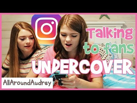 Talking To Fans Undercover On Instagram / AllAroundAudrey