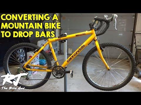 Convert Mountain Bike To Drop Bars for Touring/Monster Cross/Gravel Bike