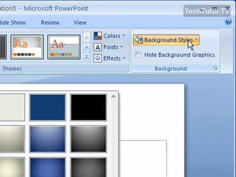 Create a Solid Color Slide Background in PowerPoint 2007