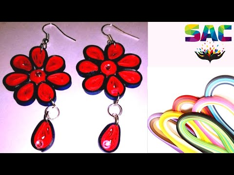 How to make  flower Quilling Earrings | DIY  Paper Quilling Art  |  quilling Earrings|