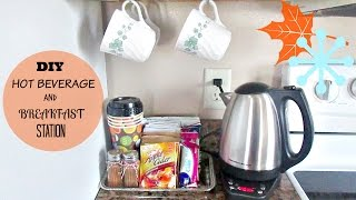 DIY FALL/WINTER HOT BEVERAGE and BREAKFAST STATION!