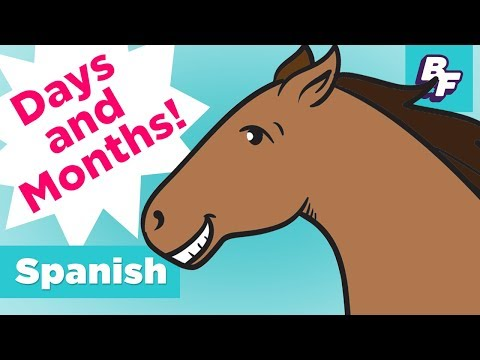 Learn Spanish Days and Months | BASHO & FRIENDS 4k Learning Songs | Day by Day - Día por día