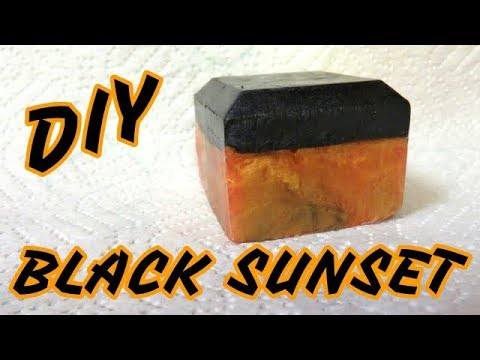 QUICKIE TUTORIALS - HOW TO MAKE BLACK SUNSET SOAP - SUPER EASY!