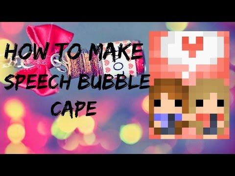 How to make speech bubble Cape | pixel gun 3D
