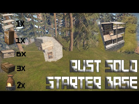Rust Base Build | Solo Starter Base!