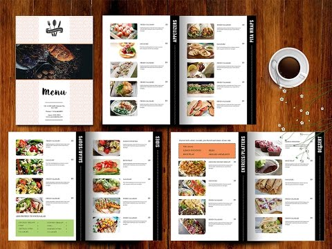 hotel menu card design tutorials make menu cards online free