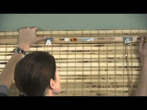 Installing Woven Wood / Bamboo Shades (Outside Mount)