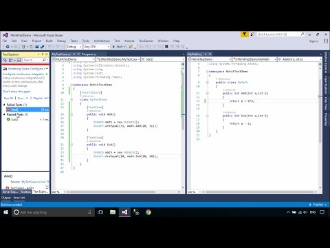 C# Tutorial - How to create NUnit Test | FoxLearn