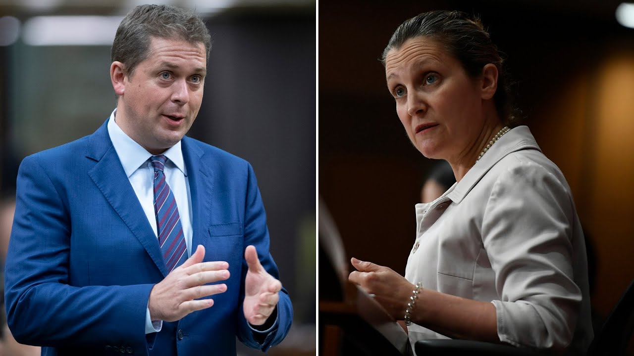 Scheer grills Freeland over WE Charity controversy and Trudeau's absence from question period
