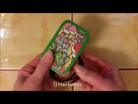 How to make a 26 piece emergency tin with an Altoid Tin