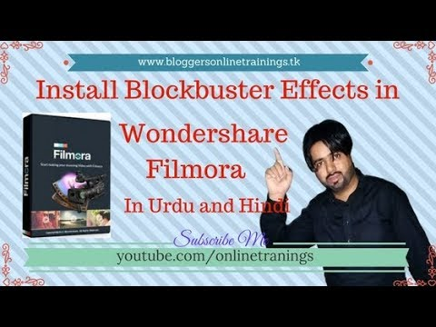 How to install Hollywood Effects in wondershare Filmora