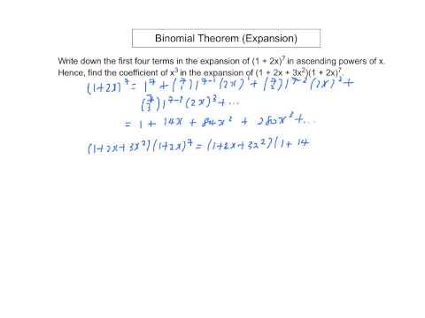 Binomial Theorem (Expansion)