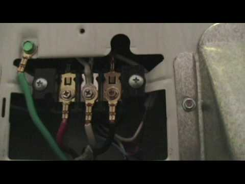 Replacing a Dryer Cord Plug and Receptacle