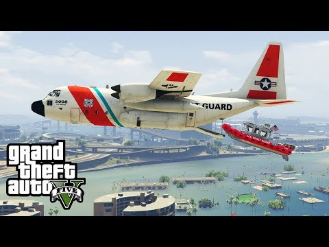 GTA 5 - Army Patrol Episode #35 - Coast Guard Rescue! (New DLC Gear, Air Lift)