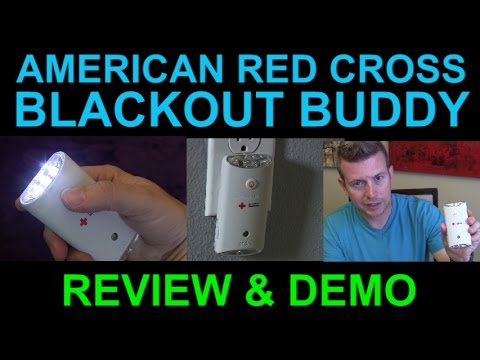 Blackout Buddy Emergency Light Flashlight and Night Light by American Red Cross Review Demo
