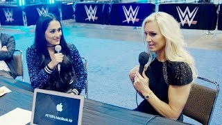 Charlotte Flair and Nikki Bella get personal during a radio interview