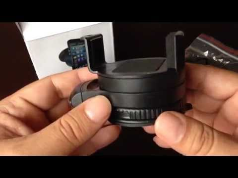 iNuri phone GPS windshield dashboard desk adjustable swivel suction cup mount unboxing and review