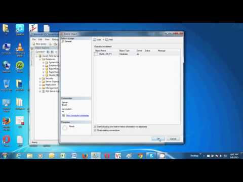 How to Delete Database from SQL server 2008 R2