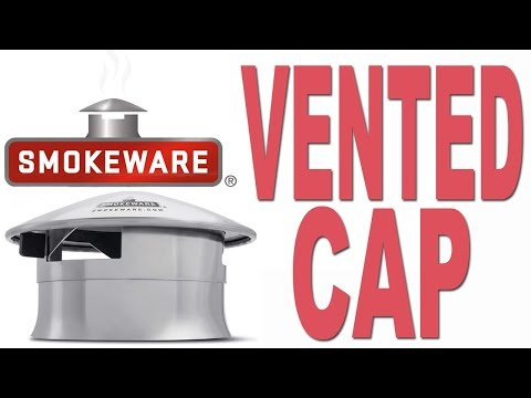 Smokeware's Vented Chimney Cap for Big Green Egg