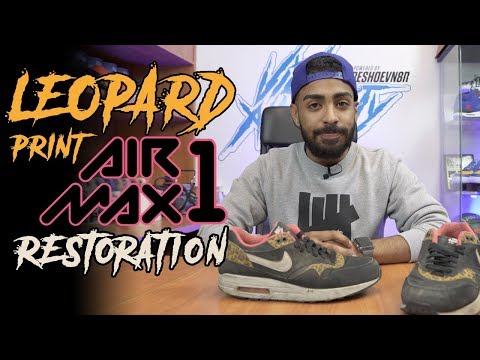 Suede Nike WMNS Air Max 1 Leopard Restoration by Vick Almighty