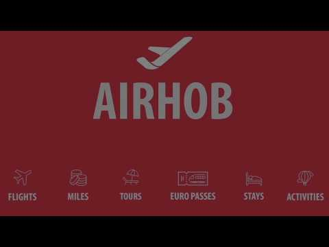 Airhob | Frequent Flyer Miles, Flights, Activities, Stays, European Passes, Tours and more