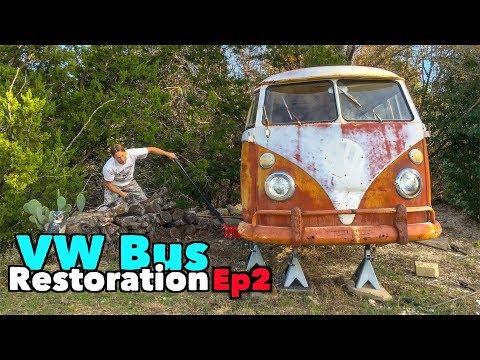 VW Bus Restoration - Episode 2! Nasty greasy parts!