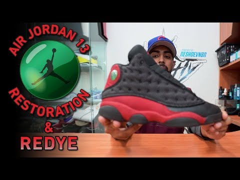 Restorations with Vick - Air Jordan Bred 13s (Cleaning, Suede ReDye & More)