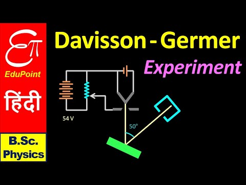 DAVISSON and GERMER Experiment || Quantum Mechanics for B.Sc. in Hindi