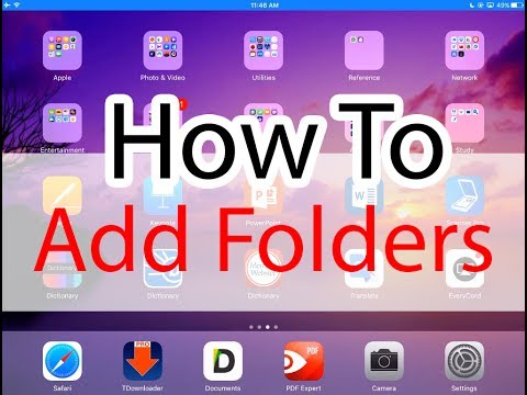 How to add Folders Music Documents to your iPad/iPhone