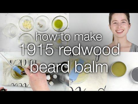 How to Make 1915 Redwood Beard Balm