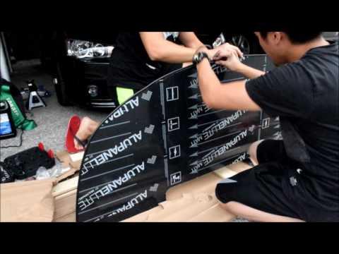 Custom carbon fiber front splitter install!