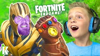 My Dad is THANOS! Fortnite ENDGAME on KIDCITY GAMING