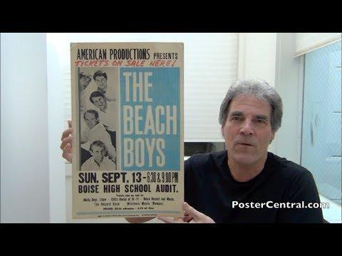 Beach Boys 1964-67 Concert Posters – Blue & White 'Tour Blanks' - Pt. 1