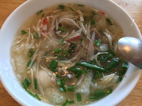Imitation shark fin soup recipe -  Fish maw soup. Cach nau soup vi ca-soup bong bong ca